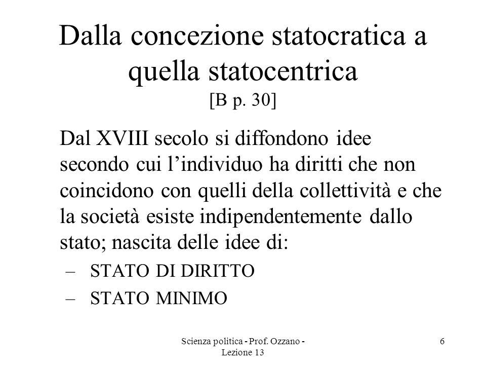 Dalla concezione statocratica a quella statocentrica [B p. 30]